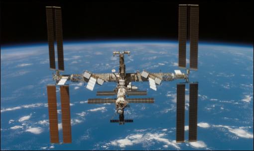 La IIS vista desde el transbordador espacial Atlantis
